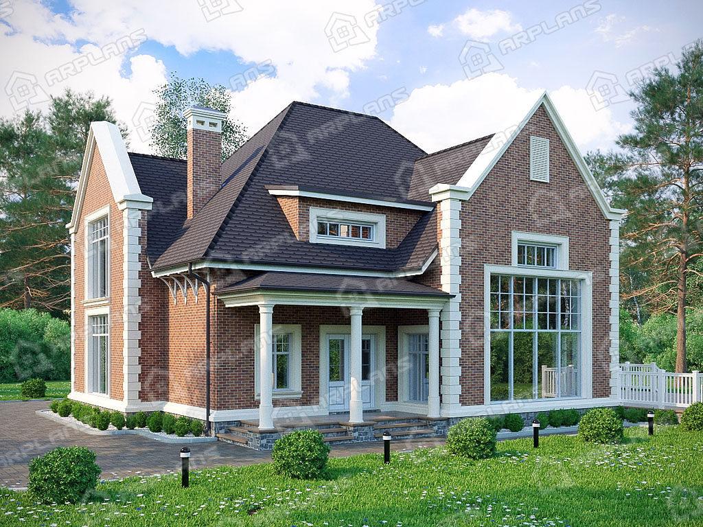 Проект двухэтажного дома,   площадь 312м2, размер         19.2 x 18.2 м